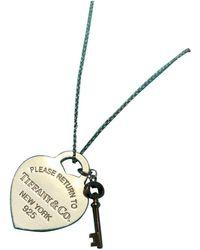 Tiffany & Co. Return To Tiffany Silber Colliers - Mettallic