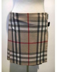 Burberry - Other Wool Skirt - Lyst