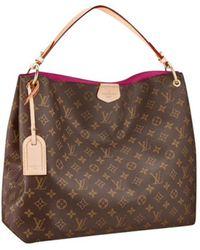 Louis Vuitton - Graceful Brown Leather Handbag - Lyst