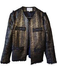 Sandro - Gold Synthetic Jacket - Lyst