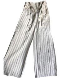 Sezane Fall Winter 2019 Large Trousers - Natural
