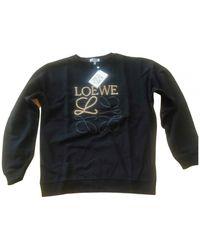 Loewe Black Cotton Knitwear & Sweatshirt