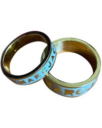 Marc By Marc Jacobs Gold Metal Ring - Blue