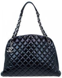 Chanel - Mademoiselle Black Leather Handbag - Lyst