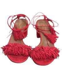 Aquazzura Wild Thing Sandal - Red