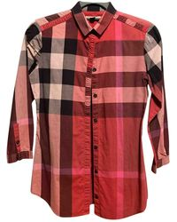 Burberry Red Cotton Top