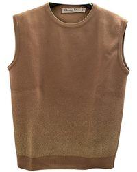 Dior Pull.Gilets en Laine Beige - Neutre