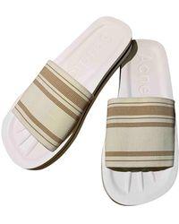 Acne Studios White Cloth Sandals - Multicolour