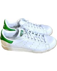 adidas - Stan Smith White Leather Trainers - Lyst