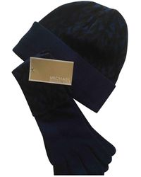 Michael Kors Wool Gloves - Blue