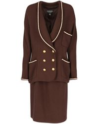 Chanel - Wool Skirt Suit - Lyst