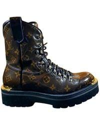 Louis Vuitton Lv Outland Cloth Boots - Brown