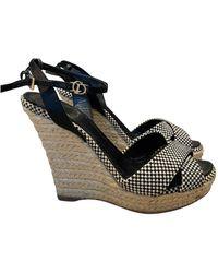 Dior Cloth Sandals - Black