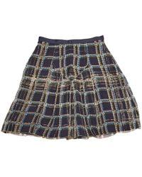 Anna Sui - Mini jupe en soie - Lyst