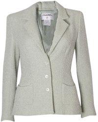 Chanel - Green Wool Jacket - Lyst