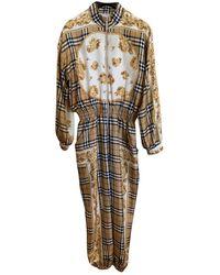 Burberry Silk Jumpsuit - Multicolor