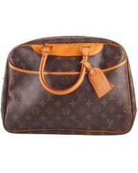 Louis Vuitton - Pre-owned Vintage Deauville Brown Cloth Handbags - Lyst