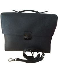 Ferragamo Anthracite Leather Handbag - Multicolor