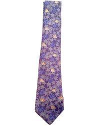 Hermès Corbatas en seda azul