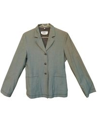 Maison Margiela - Grey Wool Jacket - Lyst