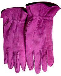 Chanel Gants en Cuir Rose - Violet