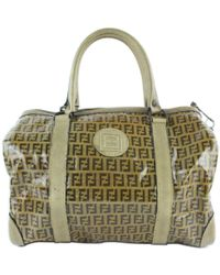 Fendi Brown Suede Travel Bag