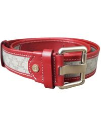 Céline Other Cloth Belts - Red