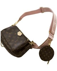 Louis Vuitton Borsa a mano in tela marrone Multi Pochette Accessoires