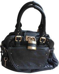 Chloé Paddington Leather Handbag - Black