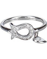 Dior - White Gold Ring - Lyst