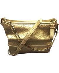 Chanel - Pre-owned Gabrielle Leather Crossbody Bag - Lyst