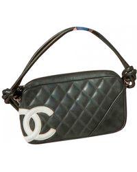 Chanel Cambon Leather Clutch Bag - Multicolour