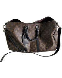 Louis Vuitton Keepall Cloth Bag - Brown