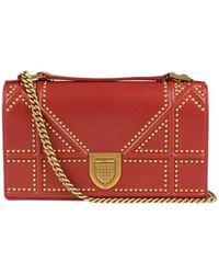 cc293935f5f3 Dior Ama Yellow Leather Handbag in Yellow - Lyst