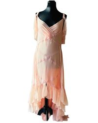 Chanel Silk Maxi Dress - Pink