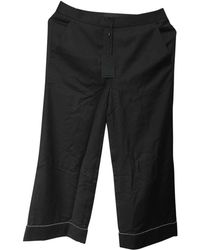 Alexander Wang - Black Wool Trousers - Lyst