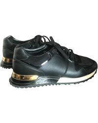 Louis Vuitton Run Away Black Leather Sneakers