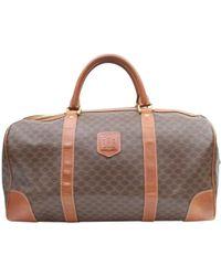 Céline - Vintage Brown Cloth Travel Bag - Lyst