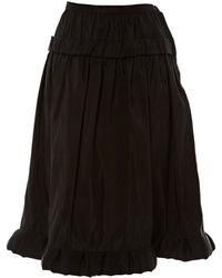 Lanvin - Black Silk Skirt - Lyst