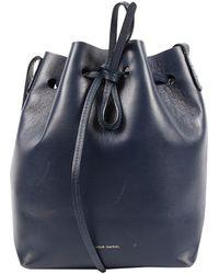 Mansur Gavriel Bandolera Bucket Bag de Cuero - Azul