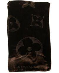 Louis Vuitton Pañuelos en terciopelo marrón Logomania