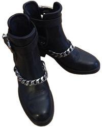 Sandro Boots en Cuir Noir