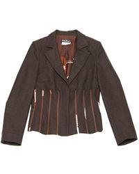 Ferragamo - Brown Wool - Lyst