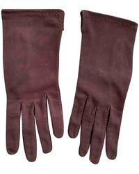 Hermès Leather Gloves - Brown