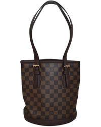 Louis Vuitton Sac à main Bucket en Toile Marron