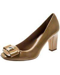sports shoes 3b0f5 5e7ec Scarpe col tacco in vernice beige - Neutro