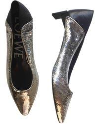 Loewe Pre-owned Silver Glitter Heels - Metallic