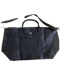 Longchamp Leder Wochenende tasche - Blau