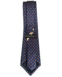 Ferragamo Cravatta in Seta - Blu
