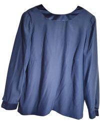 Dior Vintage Blue Silk Top